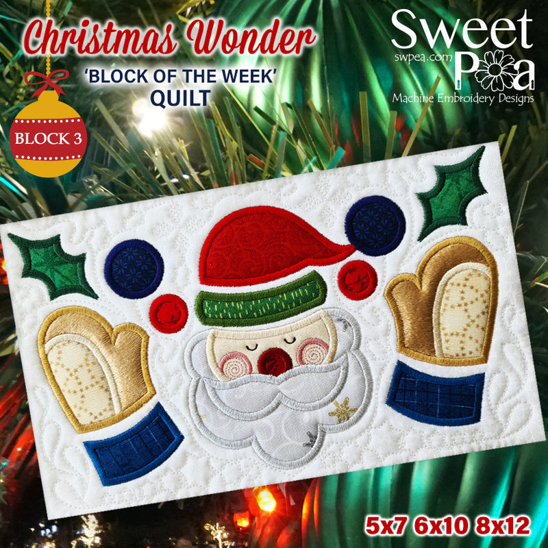 BOW Christmas Wonder Mystery Quilt Block 3