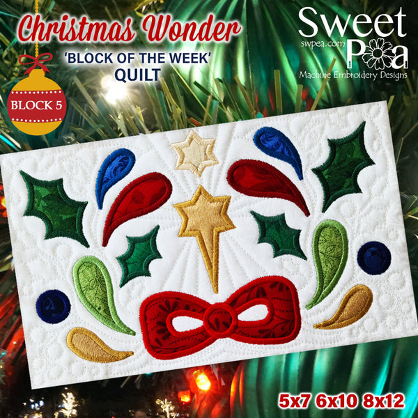 BOW Christmas Wonder Mystery Quilt Block 5