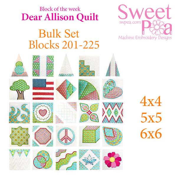 Bulk Dear Allison blocks 201-225