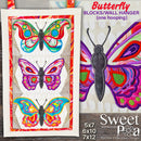 Butterfly Blocks and Wall Hanging (one hooping) 5x7 6x10 7x12