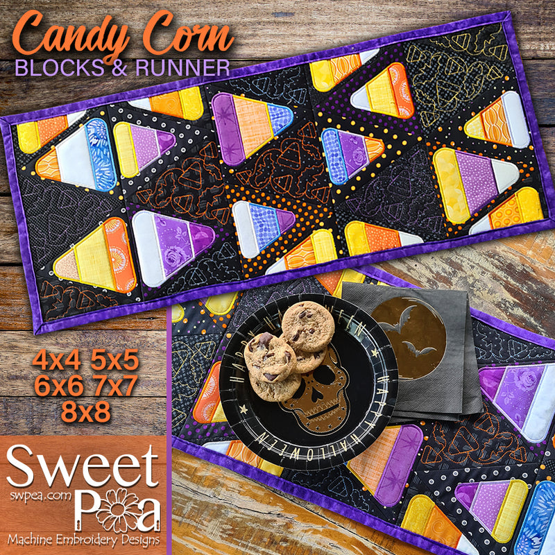 Candy Corn Blocks & Runner 4x4 5x5 6x6 7x7 8x8