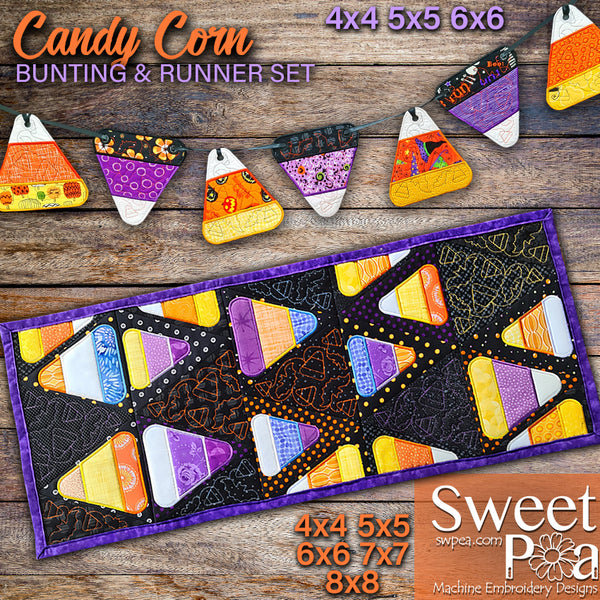Candy Corn Bunting & Runner Set