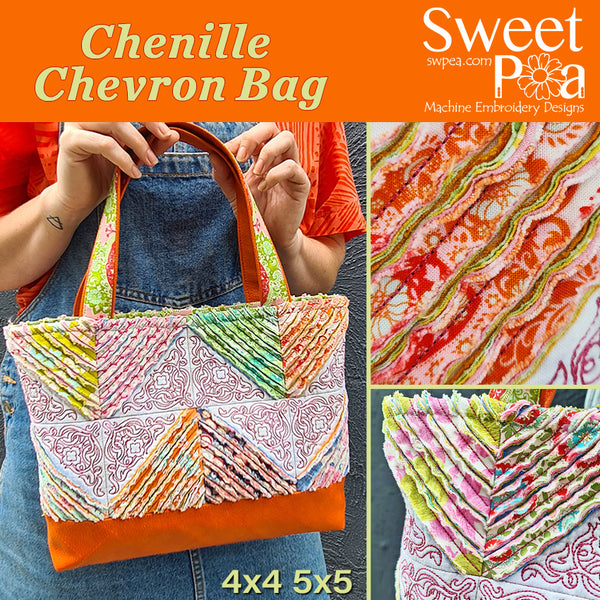 Chenille Chevron Bag 4x4 5x5