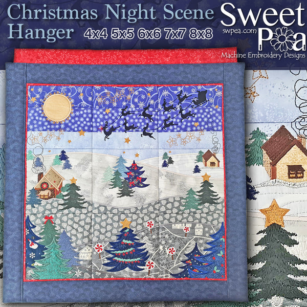 Christmas Night Scene 4x4 5x5 6x6 7x7 8x8