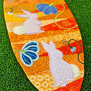 Carrot Wall Hanging/Table Runner 5x7 6x10 7x12