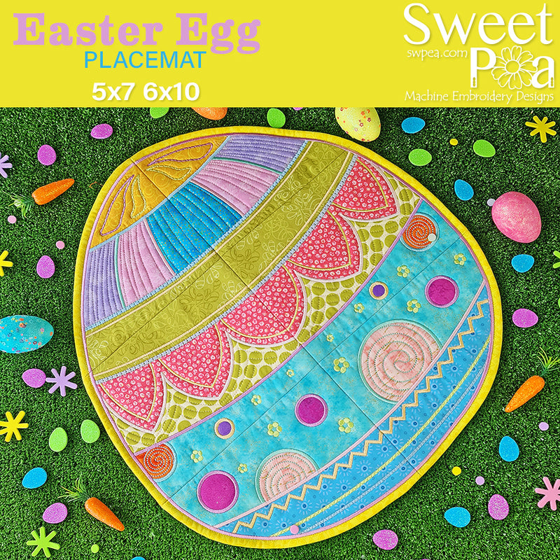 Easter Egg Placemat 5x7 6x10