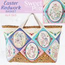 Easter Redwork Basket 4x4 5x5