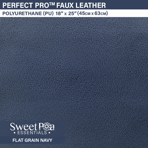 Perfect Pro™ Faux Leather - FLAT GRAIN NAVY 0.8mm