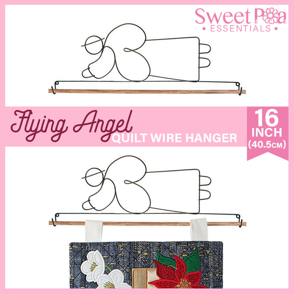 Flying Angel Quilt Wire Hanger 16in