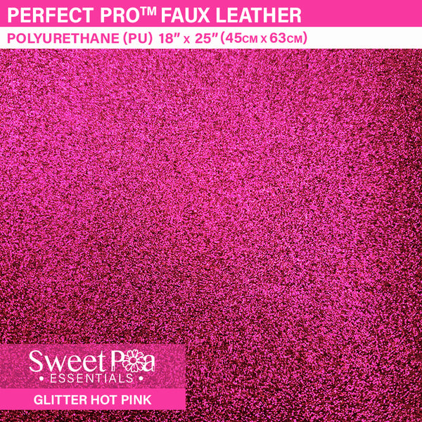 Perfect Pro™ Faux Leather - GLITTER HOT PINK 0.7mm