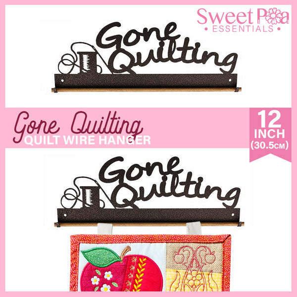 Gone Quilting Quilt Wire Hanger 12in