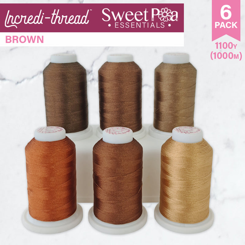 Incredi-thread™ 1000M/1100YDS 6 Pack - Brown