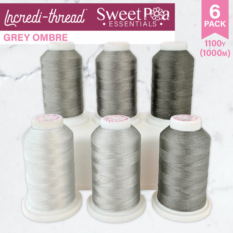 Incredi-thread™ 1000M/1100YDS 6 Pack - Grey Ombre