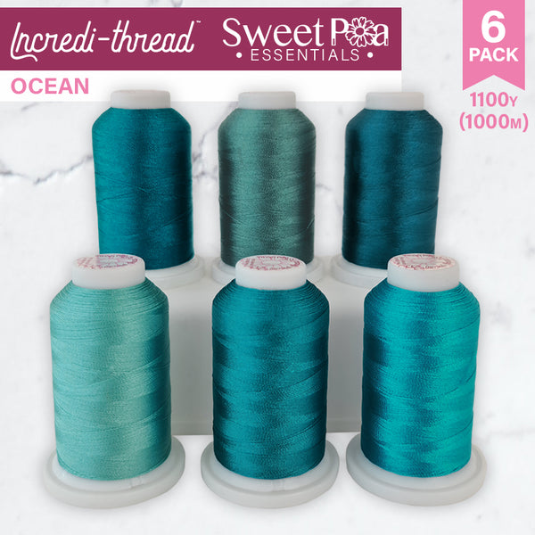 Incredi-thread™ 1000M/1100YDS 6 Pack - Ocean