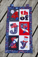4th of July Flag or Wall Hanger 4x4 5x7 6x10 8x12