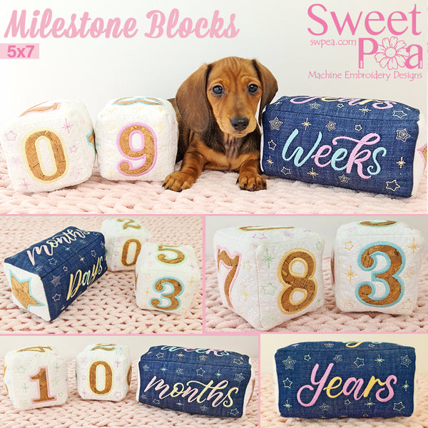 Milestone Blocks 5x7