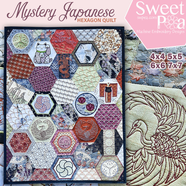 Mystery Japanese Hexagon Quilt Bulk Pack
