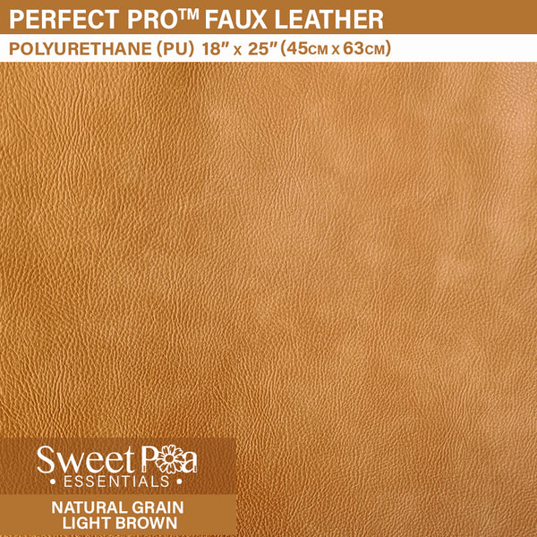 Perfect Pro™ Faux Leather - NATURAL GRAIN LIGHT BROWN 1.0mm