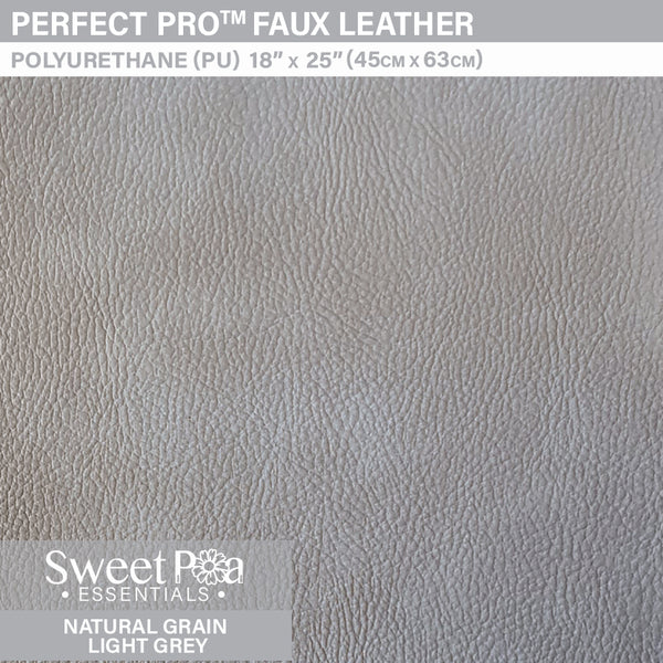 Perfect Pro™ Faux Leather - NATURAL GRAIN LIGHT GREY 1.0mm