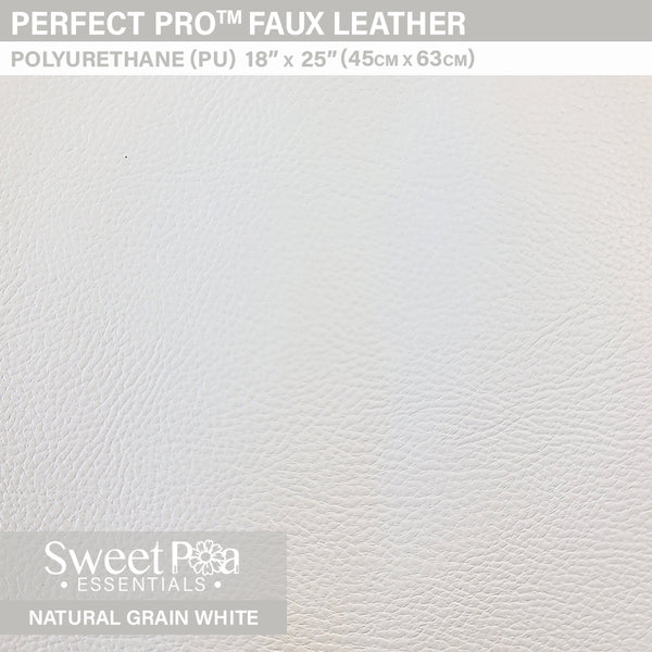 Perfect Pro™ Faux Leather - NATURAL GRAIN WHITE 1.0mm