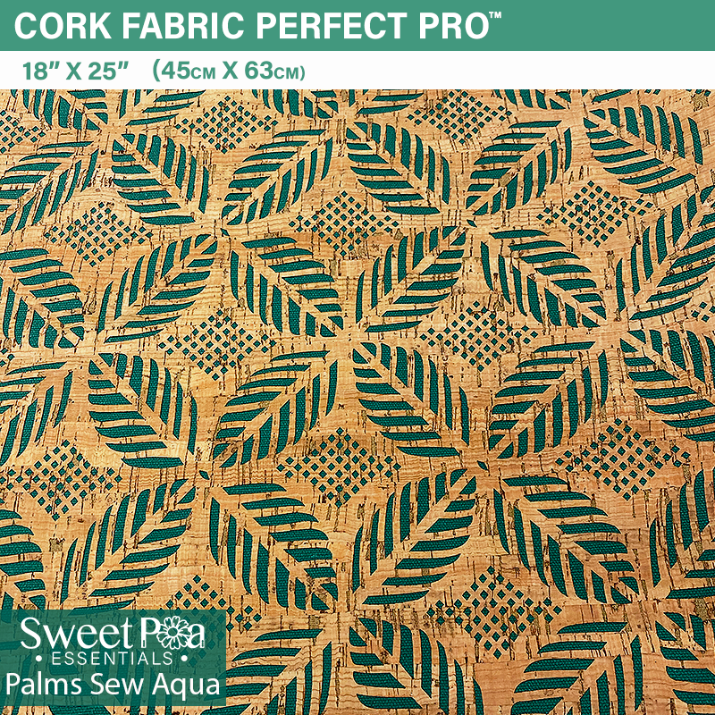 Perfect Pro™ Cork - Palms Sew Aqua 1.0mm