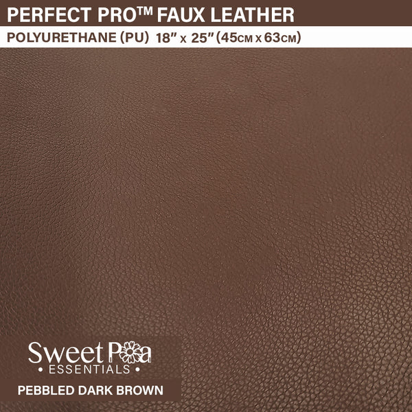 Perfect Pro™ Faux Leather - PEBBLED DARK BROWN 0.9mm