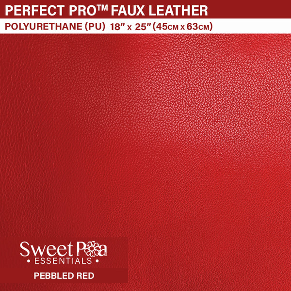 Perfect Pro™ Faux Leather - PEBBLED RED 0.9mm
