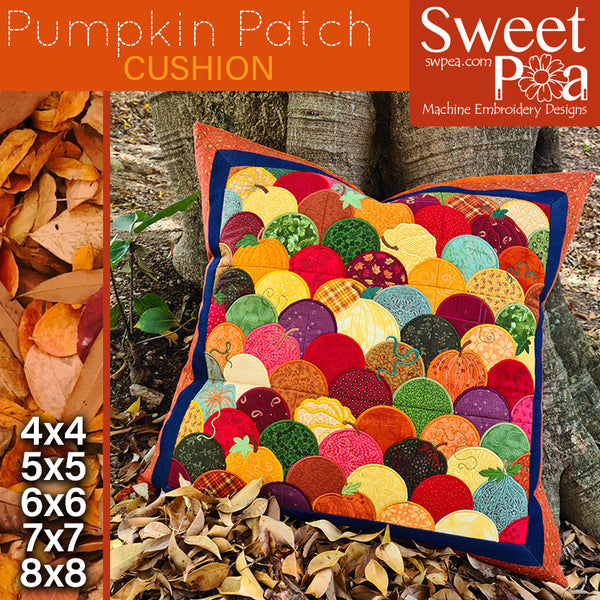 Pumpkin Patch Cushion 4x4 5x5 6x6 7x7 8x8
