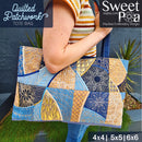 Quilted Patchwork Tote Bag 4x4 5x5 6x6