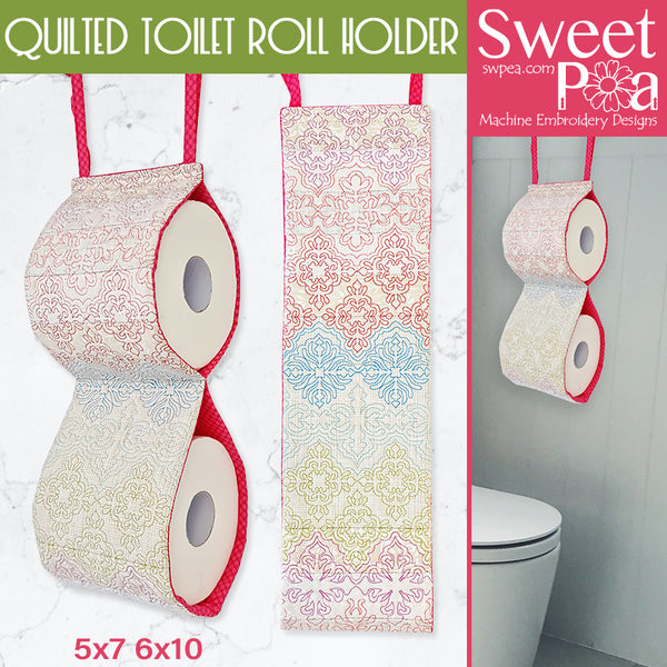 Quilted Toilet Roll Holder 5x7 6x10