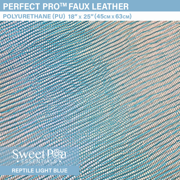 Perfect Pro™ Faux Leather - REPTILE LIGHT BLUE 0.8mm