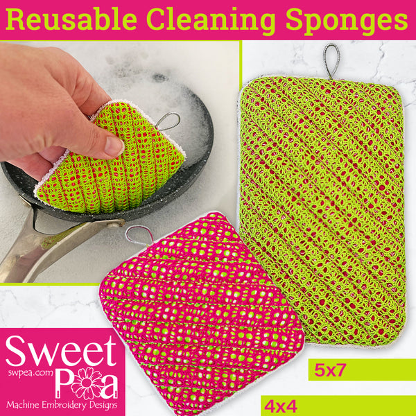 Reusable Cleaning Sponges 4x4 5x7