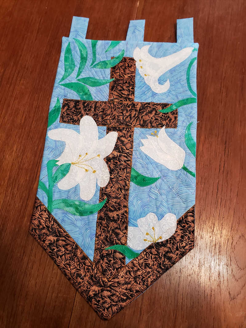 Cross and Lilies Applique & Wall Hanging Pattern