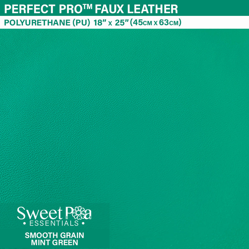 Perfect Pro™ Faux Leather - SMOOTH GRAIN MINT GREEN 0.8mm