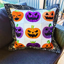 Jack O'Lantern Faces Cushion 4x4 5x5 6x6