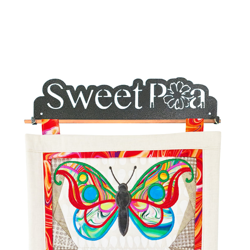 Sweet Pea Logo Quilt Wire Hanger 12in, 16in, or 22in