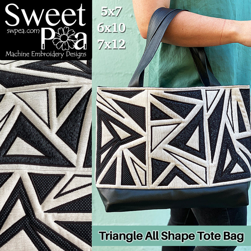 Triangle All Shapes Tote Bag 5x7 6x10 7x12