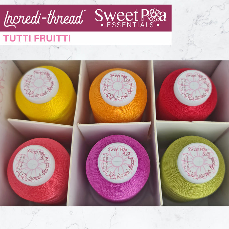 Incredi-thread™ 1000M/1100YDS 6 Pack - Tutti Frutti