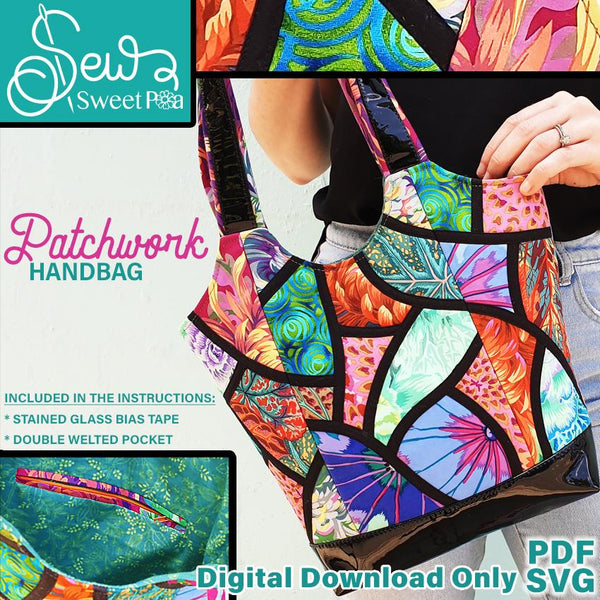 Patchwork Handbag Applique and Bag Pattern