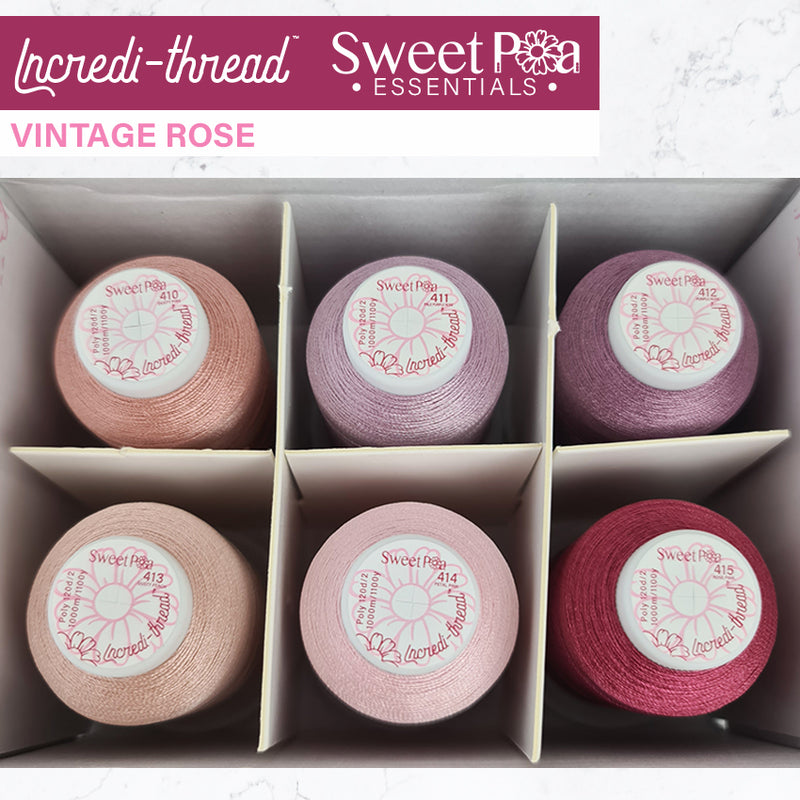 Incredi-thread™ 1000M/1100YDS 6 Pack - Vintage Rose