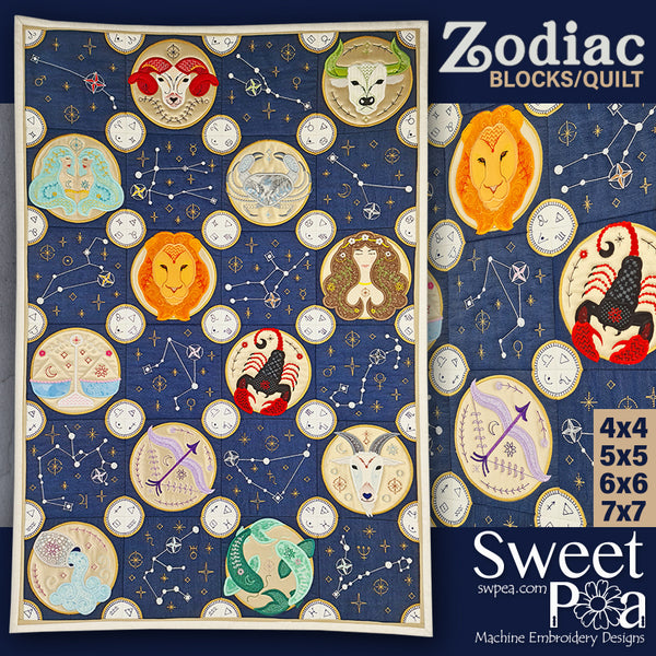 BOM Zodiac Quilt Block - Assembly Instructions