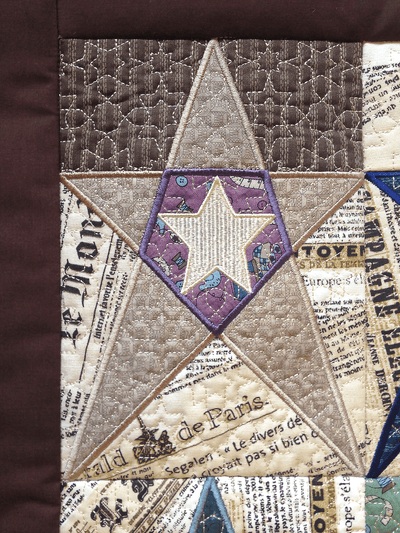 Primitive Star blocks and quilt 5x7 6x10 7x12 in the hoop machine embroidery design - Sweet Pea