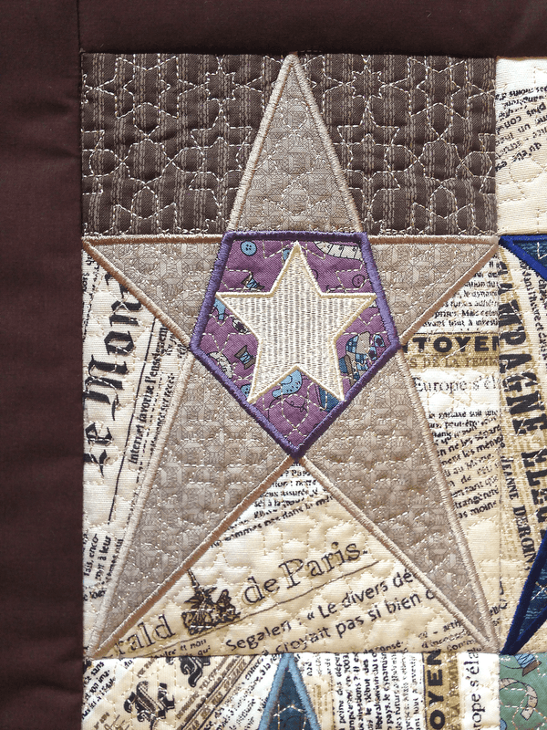 In The Hoop Embroidery Design Star Blocks Amp Quilt