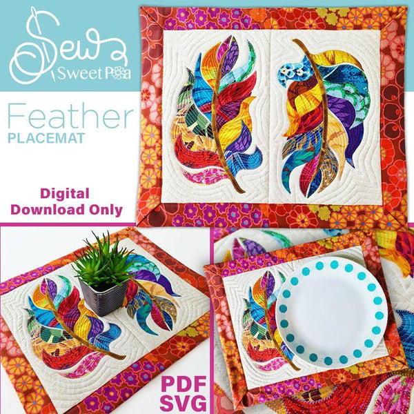 Feather Placemat Sewing Pattern - Sew Sweet Pea