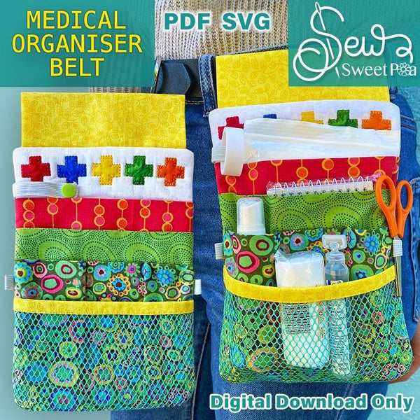 Medical Organiser Belt - Sew Sweet Pea