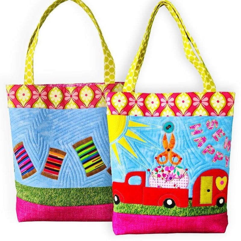 Sew Happy Tote Bag Pattern - Sew Sweet Pea