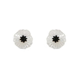 White Poppy Earrings