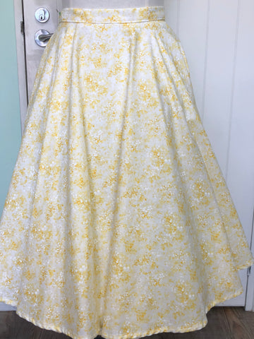 Sandy Skirt - Pale Lemon floral size 12