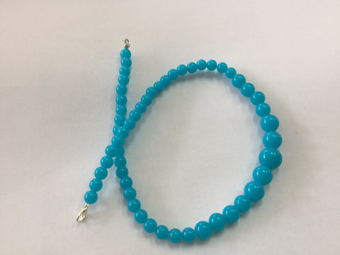 Turquoise Gumball Bead Necklace
