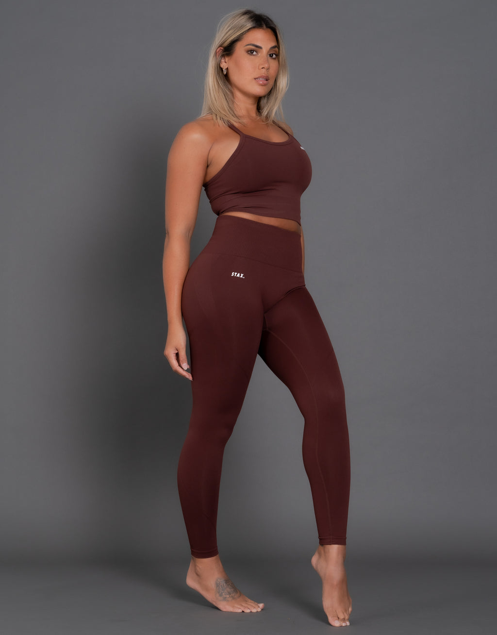 STAX. Premium Seamless V2 Tights - Umber